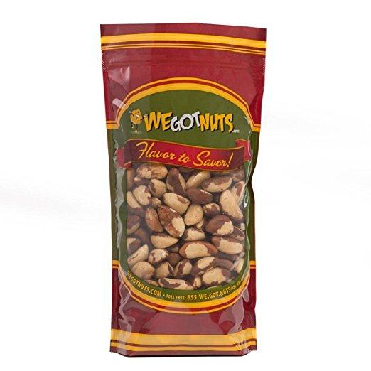 Brazil Nuts - 2 Pounds ,Whole, Shelled, Raw, Natural, We Got Nuts - Brazil Nuts Testosterone