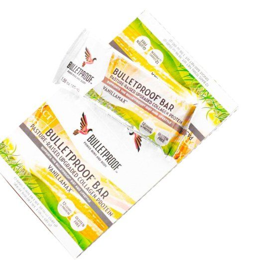 Bulletproof Vanilla Collagen Bar - Paleo Protein Bars