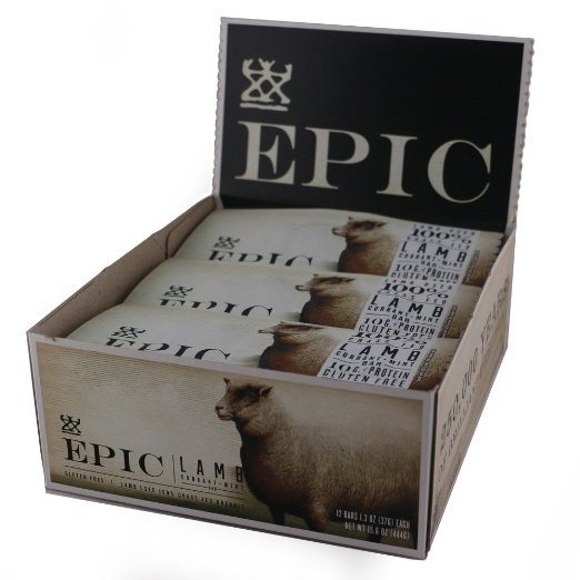 Epic All Natural Meat Bar, 100% Natural, Lamb, Currant & Mint - Paleo Protein Bars