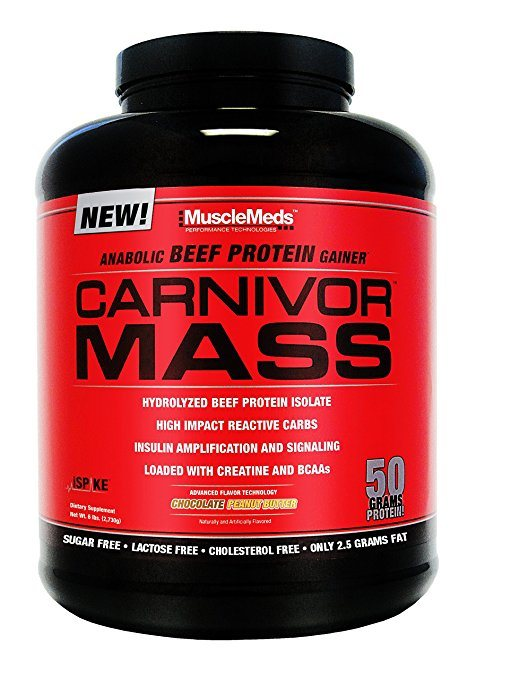 MuscleMeds Carnivor Mass Anabolic Beef Protein Gainer - Best Weight Gainer Supplements