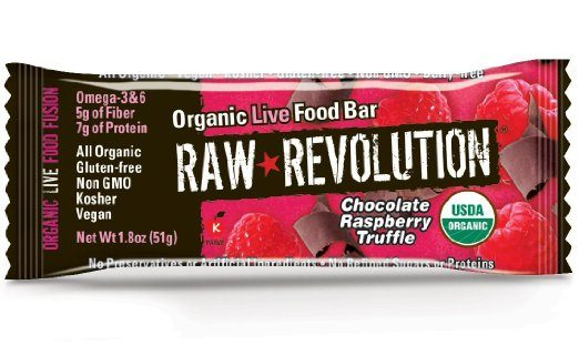Raw Revolution Organic Live Food Bar - Paleo Protein Bars