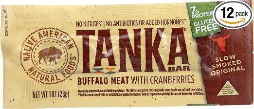Tanka Bar, natural Buffalo Cranberry Bar - Paleo Protein Bars