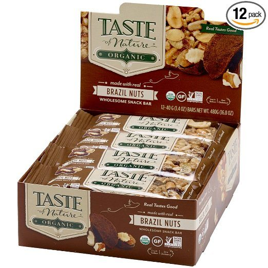 Taste of Nature Organic Snack Bars, Brazil Nut - Brazil Nuts Testosterone