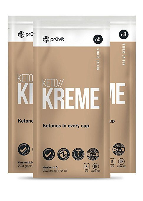 KETO//KREME by Pruvit Ketone Supplement in a Coffee Creamer