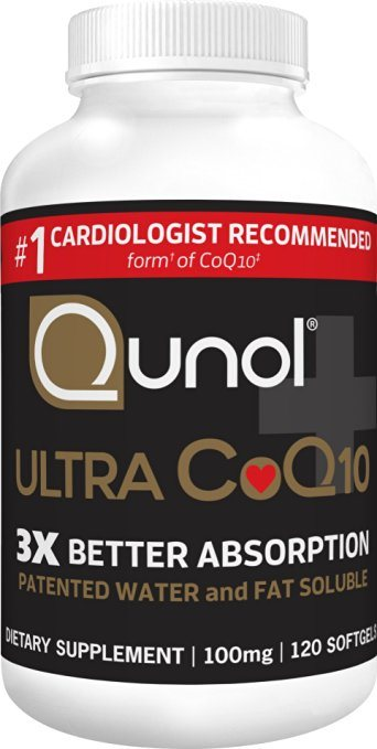Qunol Ultra CoQ10, 300% Better Absorption, Patented Water and Fat Soluble