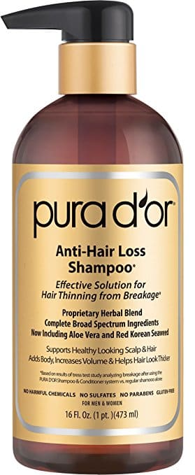 PURA D OR Anti-Hair Loss Premium Organic Argan Oil Shampoo