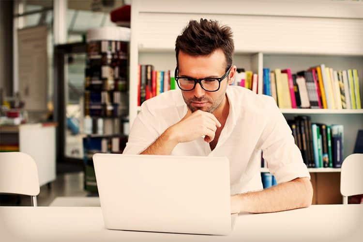man laptop