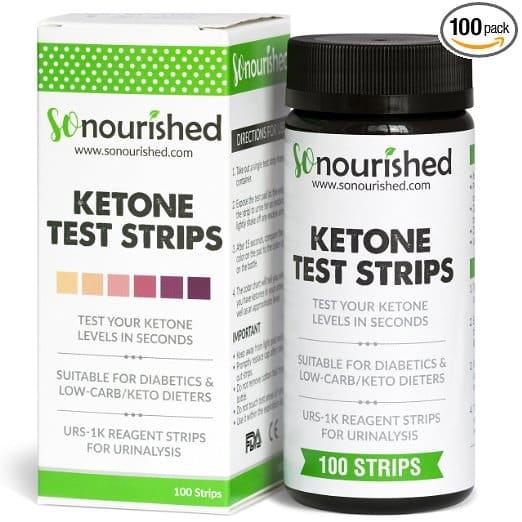 So Nourished Urine Ketone Strips